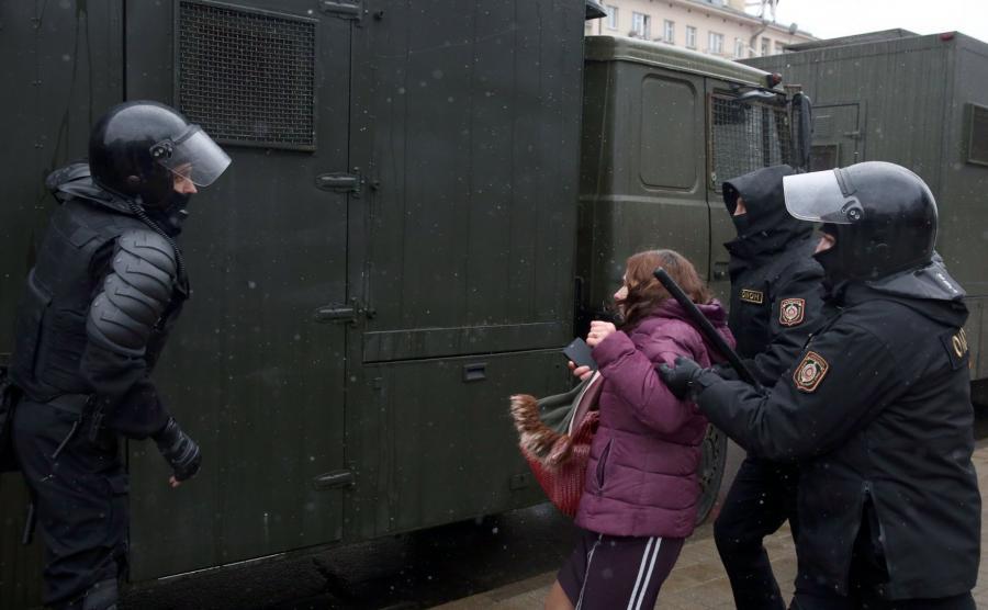 Białoruska milicja w akcji