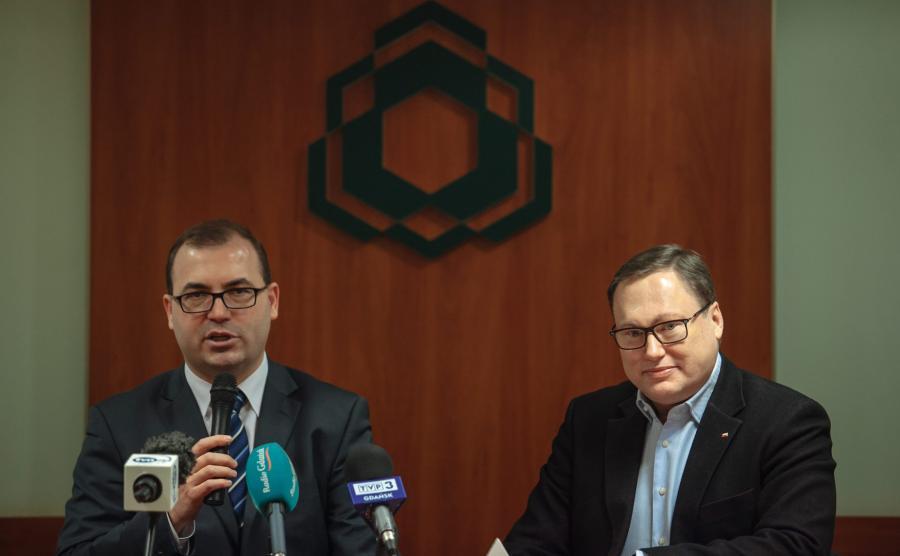 Poseł PiS Andrzej Jaworski i senator Prawa i Sprawiedliwości Grzegorz Bierecki
