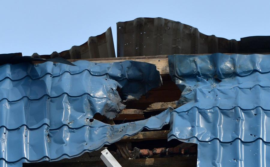 Ostrzelany budynek konsulatu
