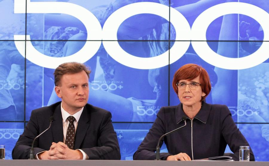 Bartosz Marczuk i Elżbieta Rafalska