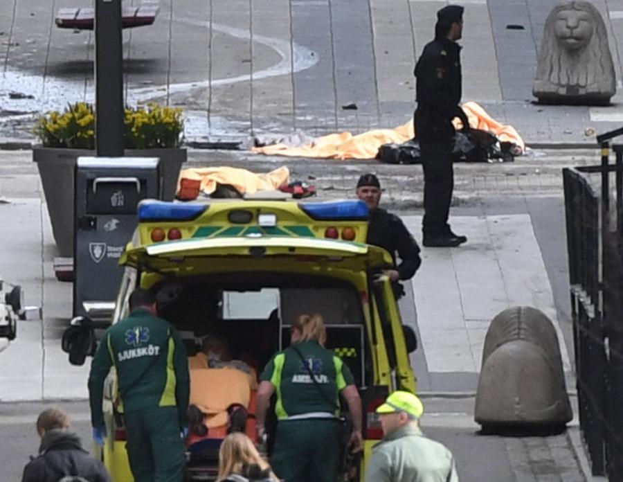 Okolice miejsca ataku w Sztokholmie