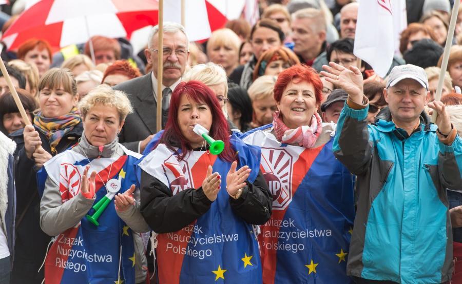 Protest nauczycieli we Wrocławiu