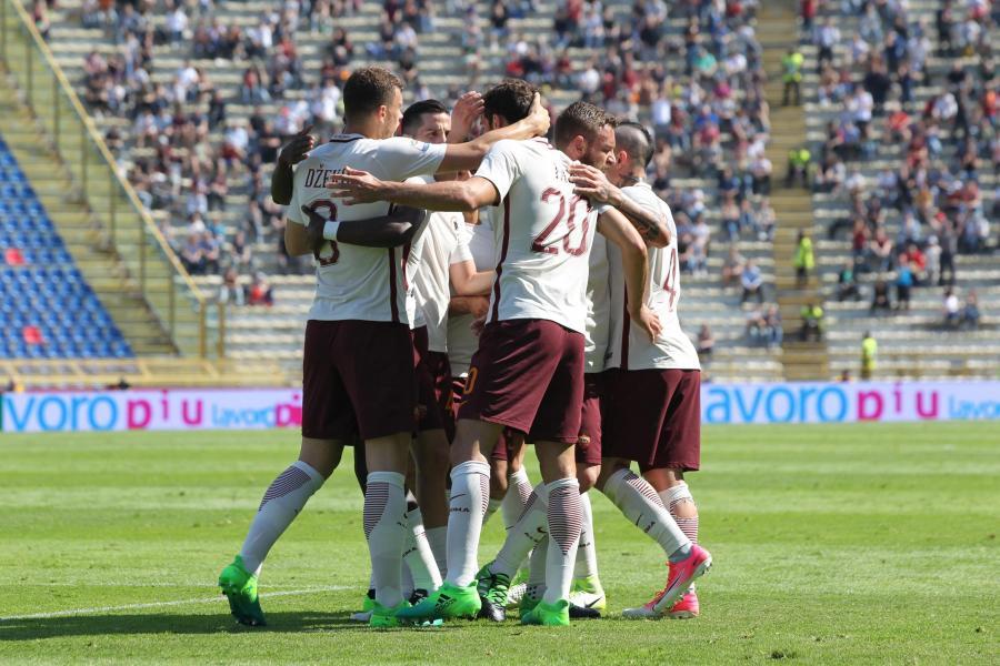 Radość piłkarzy AS Roma