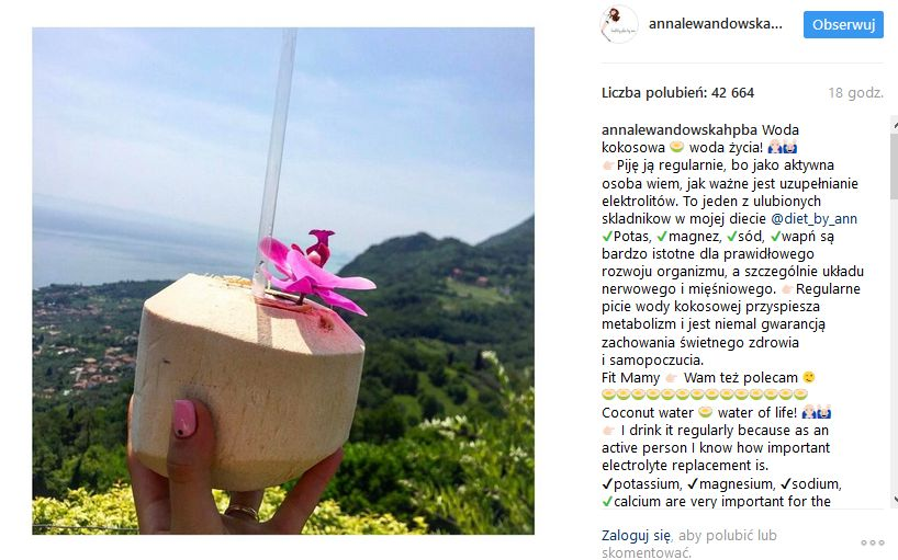 kokos - zdjecie Anny Lewandowskiej