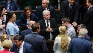 Jarosław Kaczyński z politykami PiS