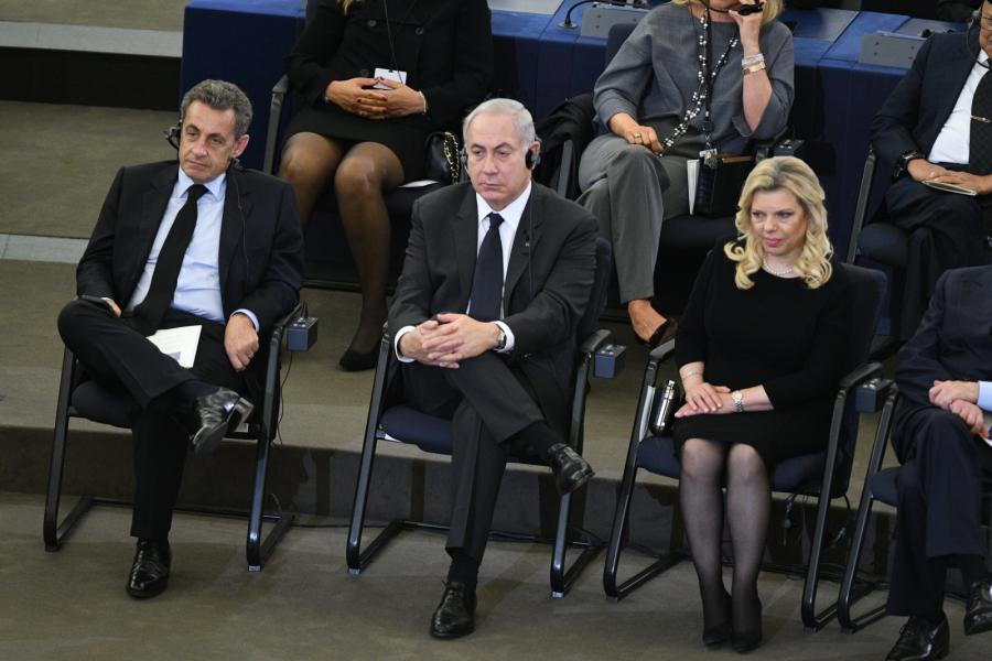 Nicolas Sarkozy, Benjamin Netanjahu i jego żona Sara