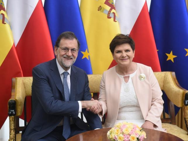 Beata Szydło i Mariano Rajoy