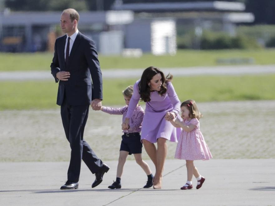 Książę William; księżna Catherine; książę George; księżniczka Charlotte