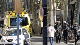 Policja na ulicach Barcelony