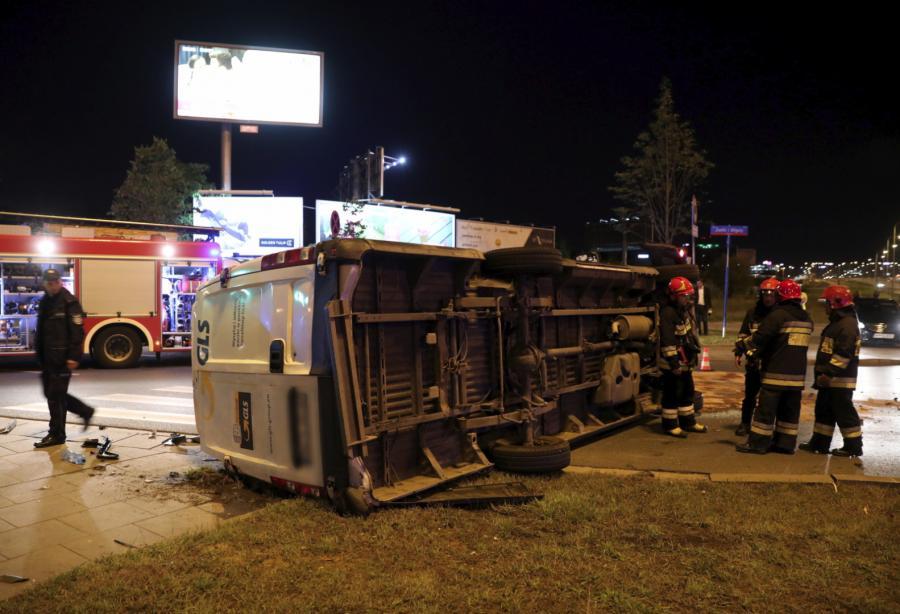 Wypadek radiowozu z kolumny BOR w Warszawie