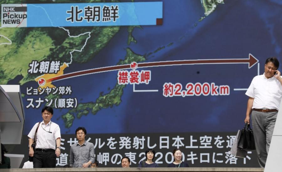 Tor wystrzelonej przez Koreę Północną rakiety