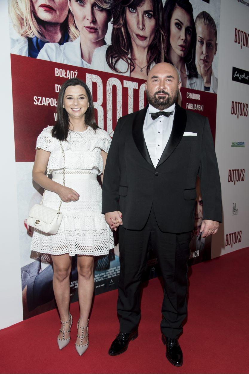 Reżyser Patryk Vega z małżonką