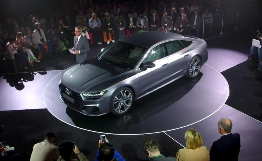 Audi A7 Sportback. Cztery liczby wyrażają sportowy charakter tego auta: długość 4969 mm, rozstaw osi 2926 mm, szerokość 1908 mm i wysokość zaledwie 1422 mm