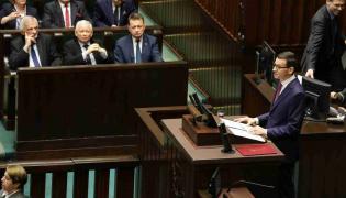 Premier Mateusz Morawiecki  wygłasza expose w Sejmie