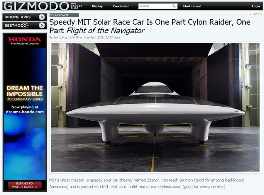 Auto na słońce, które wyciągnie 150 km/h
