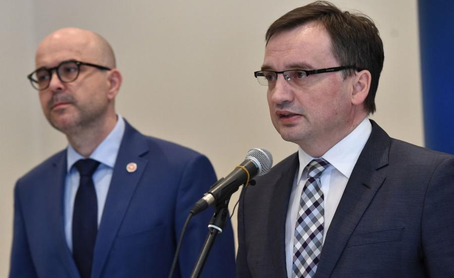 Minister sprawiedliwości, prokurator generalny Zbigniew Ziobro i Prokurator Okręgowy w Krakowie Rafał Babiński