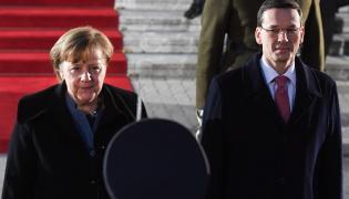 Premier RP Mateusz Morawiecki i kanclerz Niemiec Angela Merkel