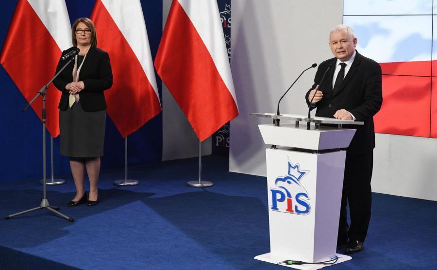 Beata Mazurek i Jarosław Kaczyński