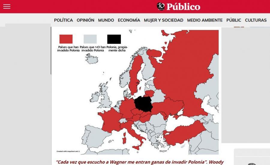 Mapa opublikowana na stronie Publico