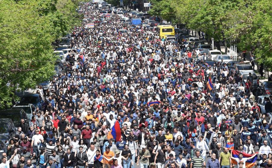 Armenia. Protest zwolenników opozycji