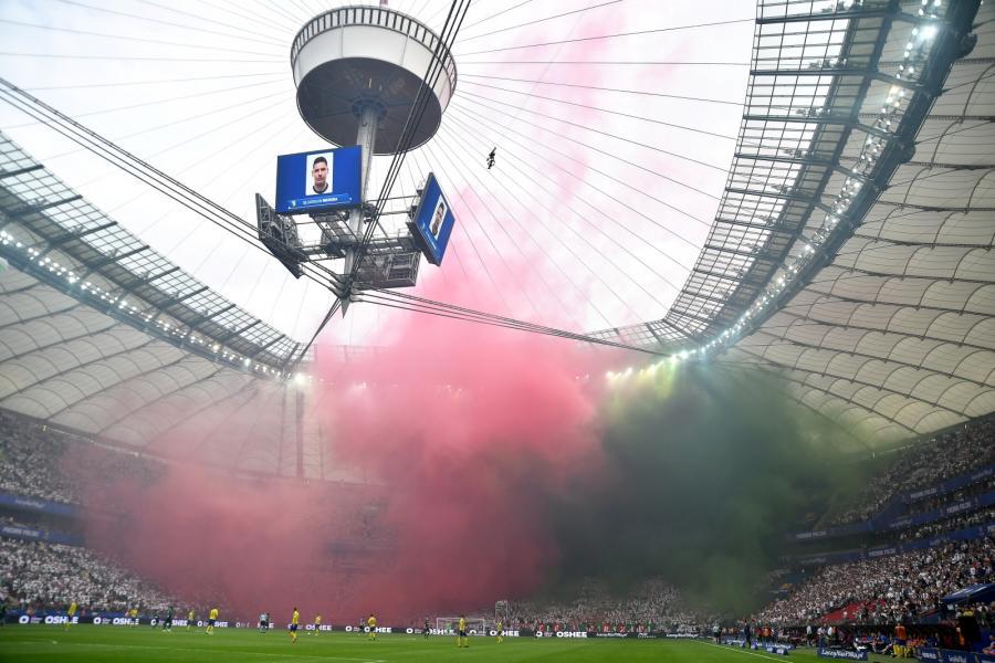 Stadion PGE Narodowy podczas finałowego meczu piłkarskiego Pucharu Polski Arka Gdynia - Legia Warszawa