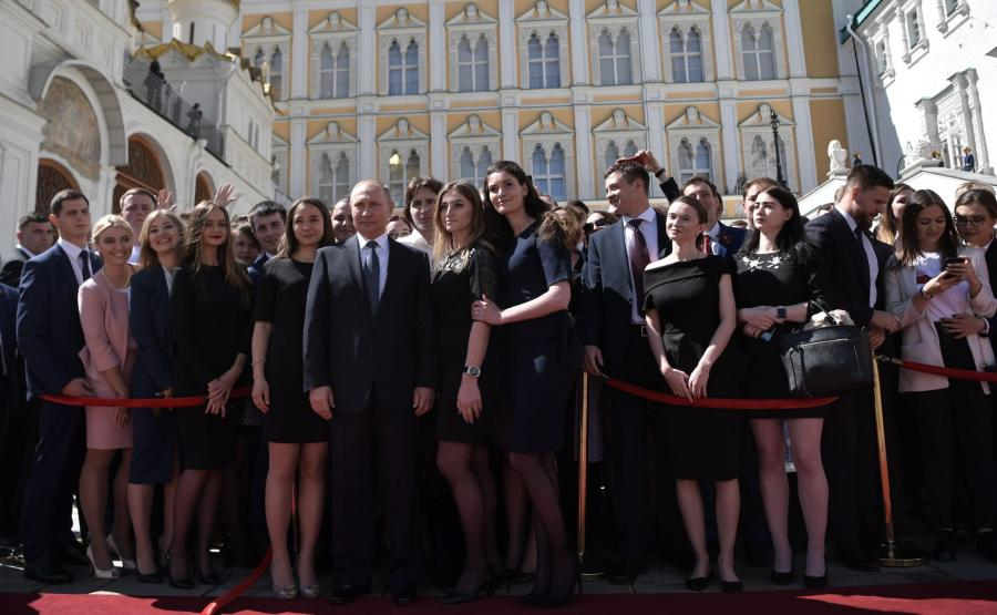 Władimir Putin i zaproszeni goście