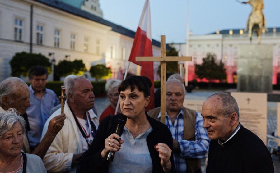 Prezes stowarzyszenia Solidarni 2010 Ewa Stankiewicz