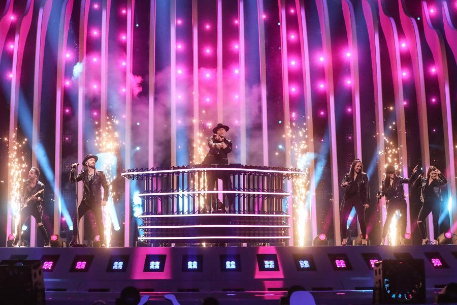 Gromee na Eurowizji. Zdjęcie z próby - tu pirotechnika zadziałała