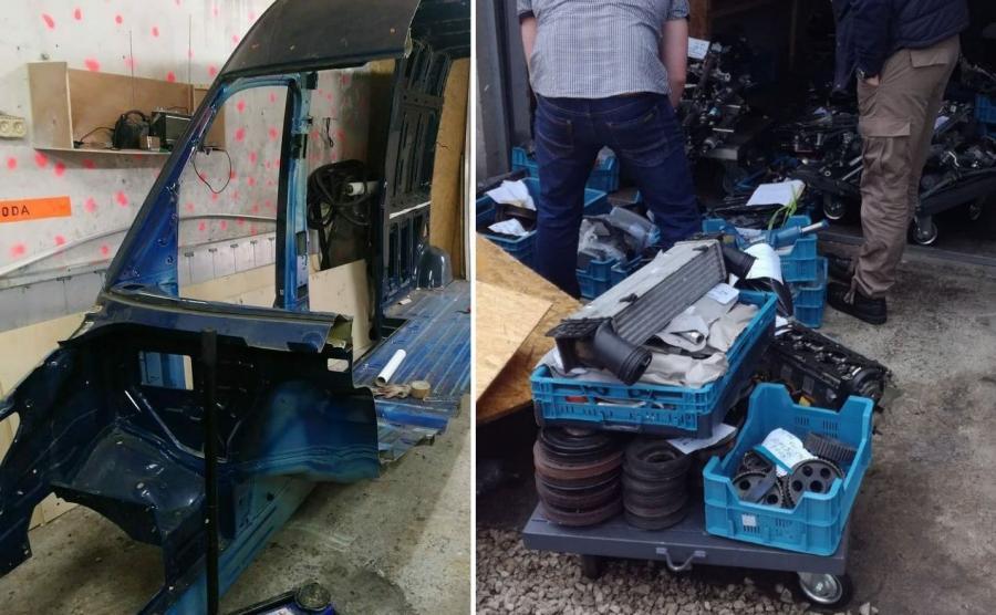 U złodziei pod Rzeszowem znaleziono części prototypu Mercedesa