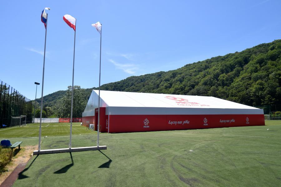 Centrum konferencyjne w kompleksie Sputnik-Sport, z którego korzystać będzie piłkarska reprezentacja Polski