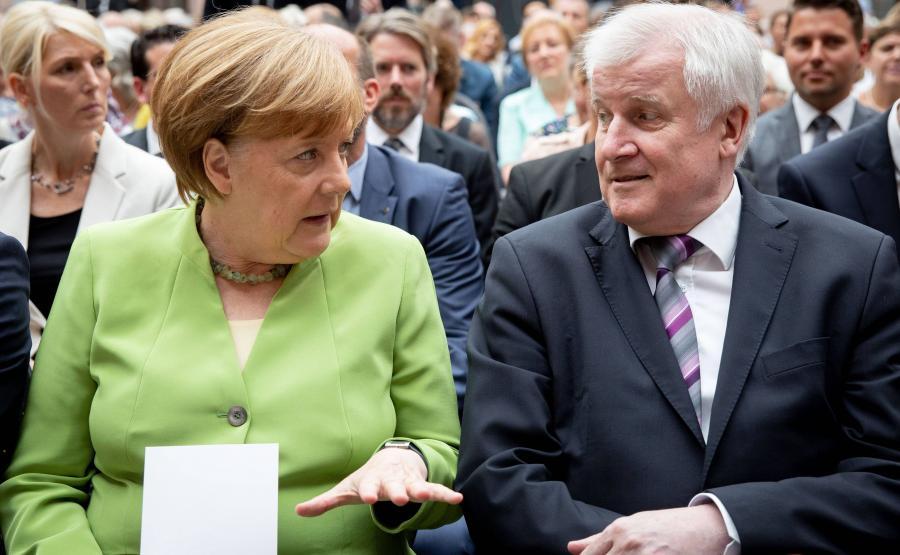 Angela Merkel i Horst Seehofer