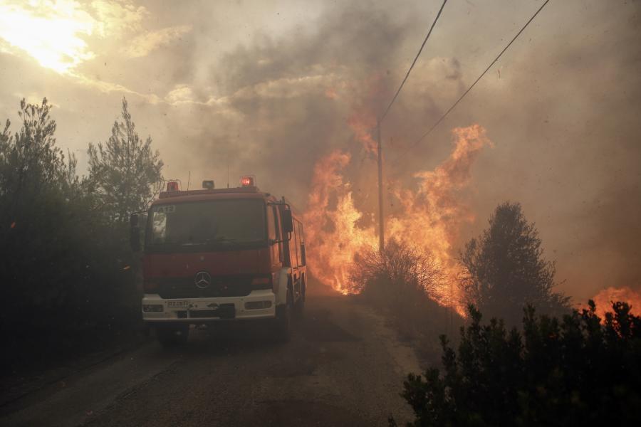Grecja w ogniu