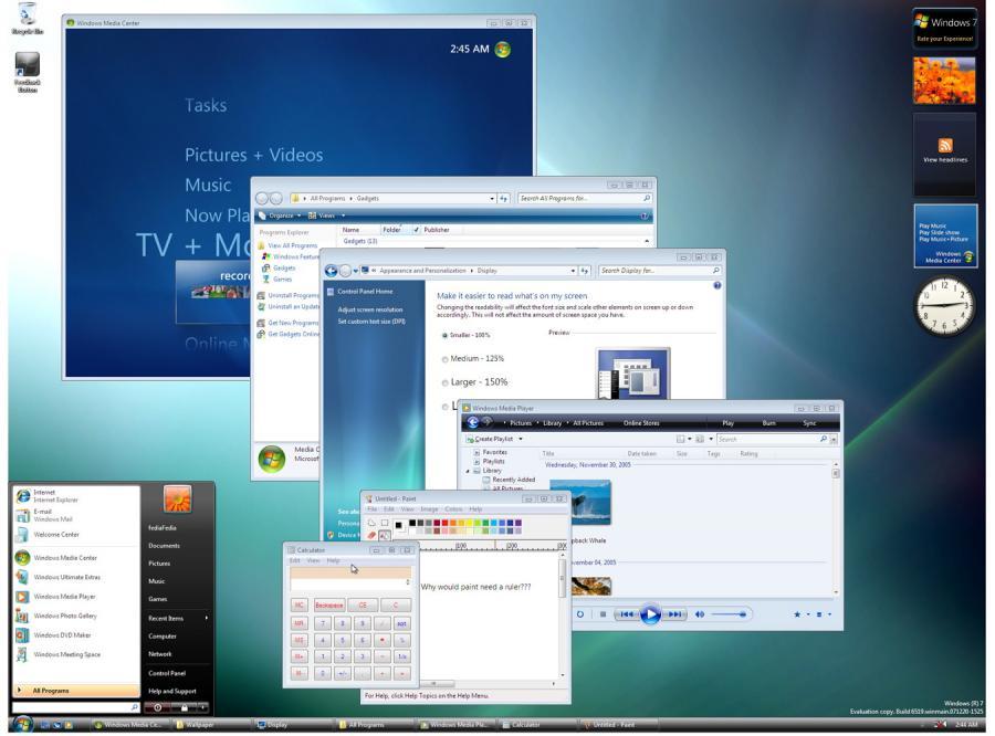 Sześć odsłon Windows 7