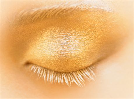 Woman\'s Eyelid with Yellow Eye Shadow --- Image by © Adrianna Williams/zefa/Corbis
