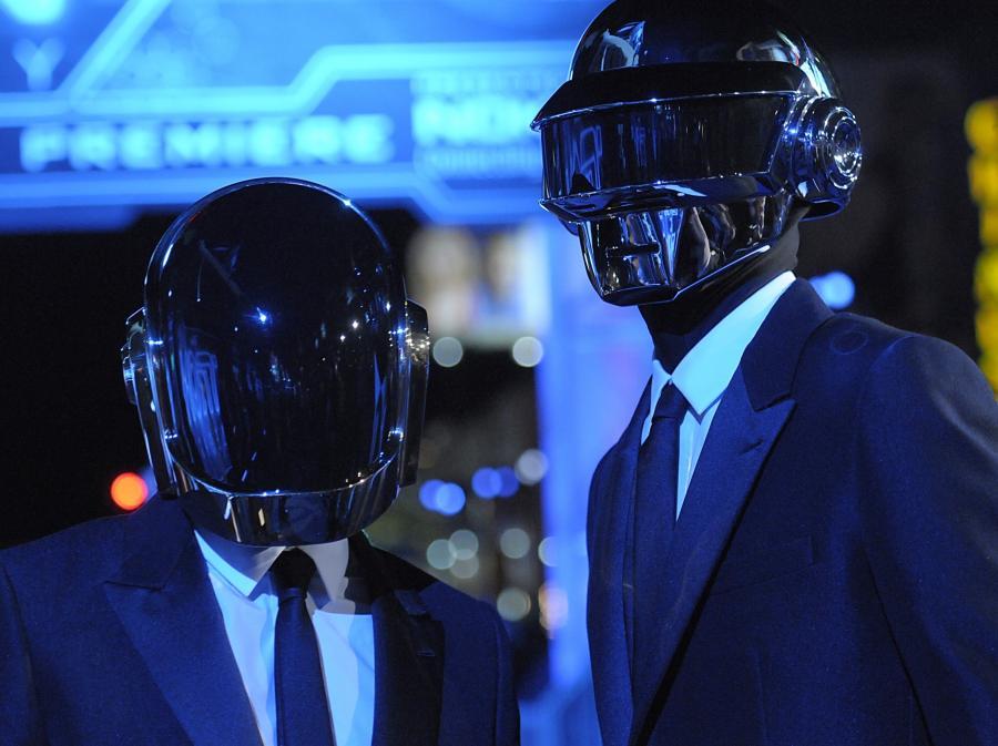 Daft Punk na premierze filmu \