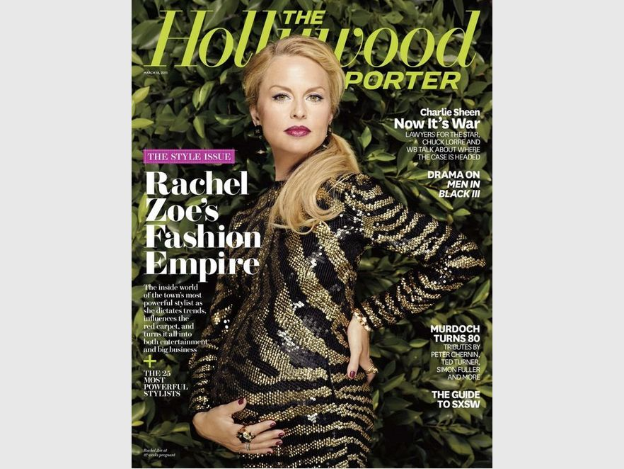 Rachel Zoe na okładce The Hollywood Reporter
