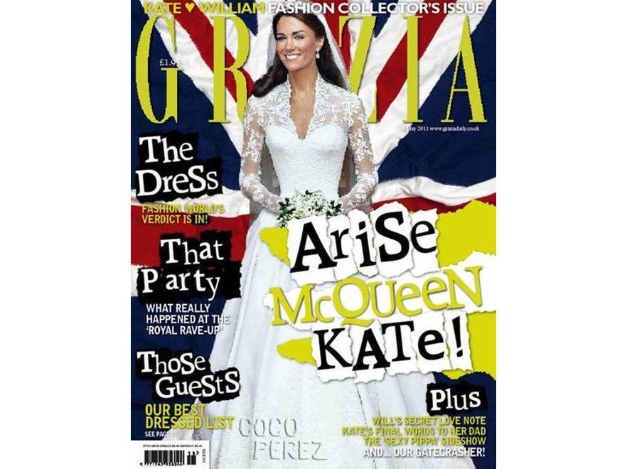 """Kate Middleton na okładce magazynu """"Grazia"""""""