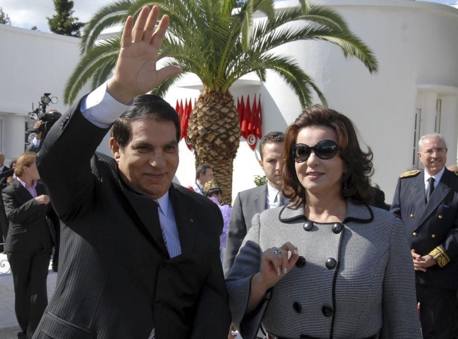 Zin el-Abidin Ben Ali i jego żona