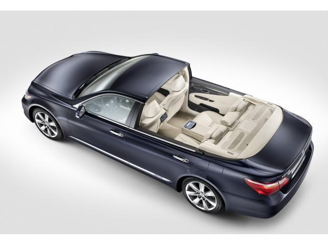 """Specjalnie przygotowana """"otwarta"""" wersja Lexusa LS 600h L będzie oficjalnym królewskim pojazdem nowożeńców podczas ceremonii zaślubin jego wysokości księcia Monako Alberta II z panną Charlene Wittstock, która odbędzie się w sobotę, 2 lipca 2011 r."""
