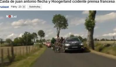 Samochód potrącił kolarza na Tour de France