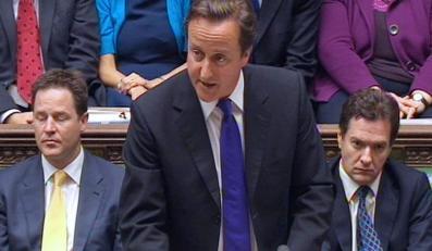 Premier David Cameron w Izbie Gmin
