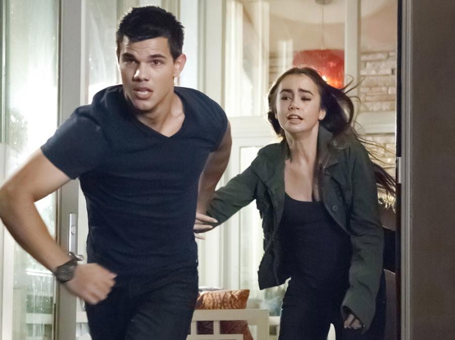 Taylor Lautner i Lily Collins