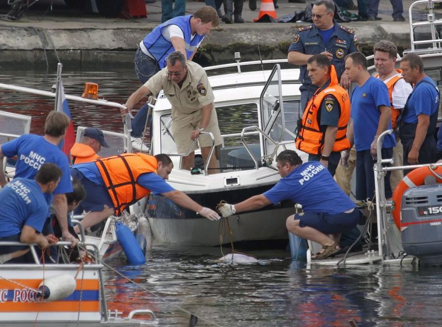 Akcja ratunkowa na rzece Moskwa