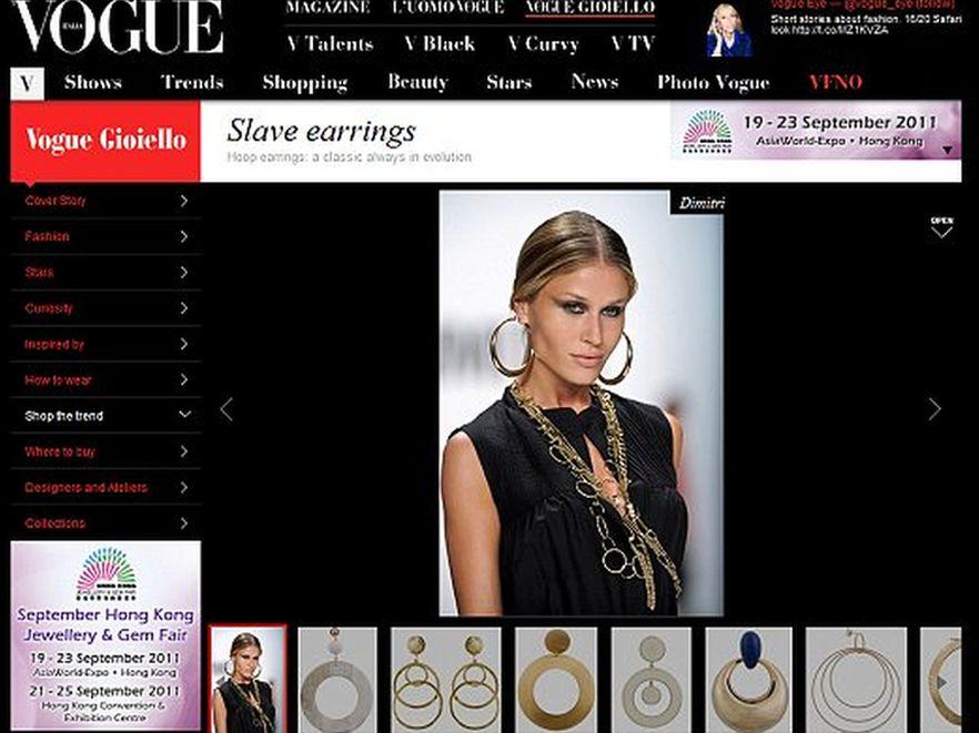 Kolczyki niewolnic? Artykuł w Vogue przyczyną skandalu. Źródło: Vogue Italia