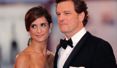 """Colin Firth i jego żona Livia Giuggioli na weneckiej premierze """"Szpiega"""""""