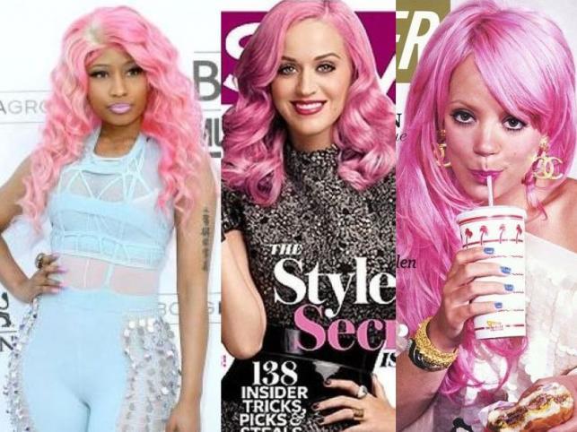 Gwiazdy z różowymi włosami