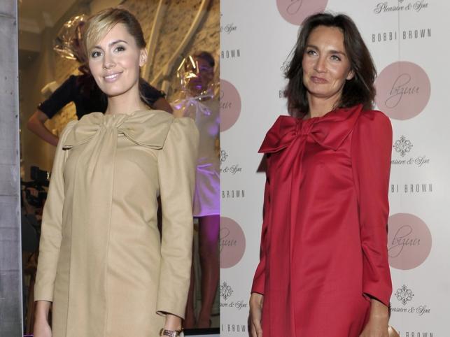 Agnieszka Popielewicz i Dominika Kulczyk-Lubomirska pojawiły się na jednej z imprez w jednakowych sukienkach.