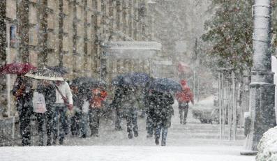 Pierwsze opady śniegu poza terenami górskimi