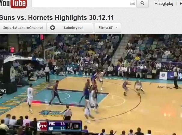 Koszykarze Phoenix Suns pokonali New Orleans Hornets
