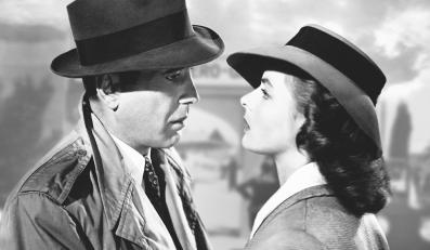 "Humphrey Bogart i Ingrid Bergman w filmie ""Casablanca"""
